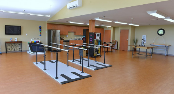 Gymnasium with rehab equipment